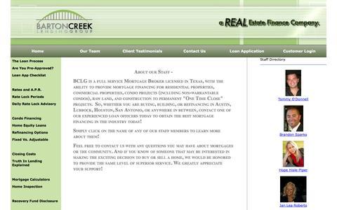 Screenshot of Team Page bartoncreeklending.com - Barton Creek Lending Group, AUSTIN, TX Real Estate Agents – Our Team - captured Oct. 5, 2014