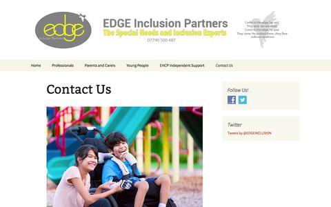 Screenshot of Contact Page edgeinc.co.uk - Contact Us - Edge Inc - captured Jan. 23, 2016