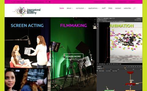 Screenshot of Home Page isasydney.com.au - International Screen Academy   screen acting   filmmaking   animation - captured Jan. 25, 2015