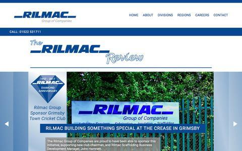 Screenshot of Press Page rilmac.co.uk - News | Rilmac Group of Companies - captured Oct. 22, 2017