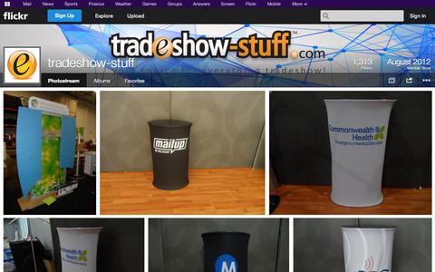 Screenshot of Flickr Page flickr.com - Flickr: tradeshow-stuff's Photostream - captured Oct. 23, 2014