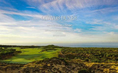 Screenshot of Home Page oitavosdunes.com - Oitavos Dunes - Portugal's Nº1 Golf Course - Cascais Lisbon - captured Nov. 15, 2018