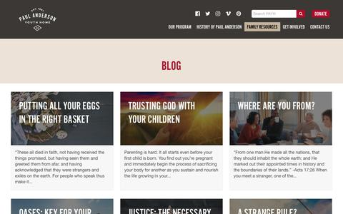 Screenshot of Blog payh.org - Blog | Paul Anderson Youth Home - captured Sept. 27, 2018