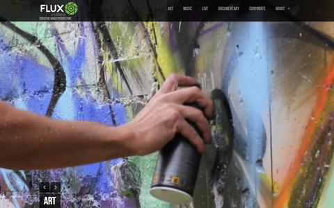 Screenshot of Home Page fluxvideoltd.com - FLUX VIDEO | CREATIVE VIDEO PRODUCTION - captured Oct. 6, 2014