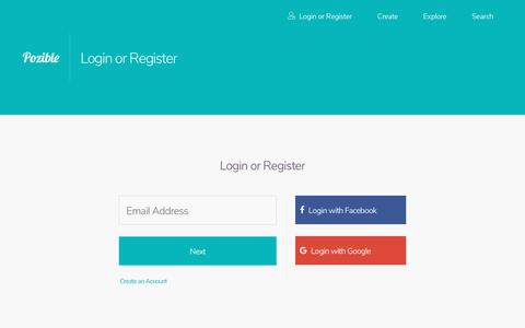 Screenshot of Login Page pozible.com - Pozible - We Crowdfund Awesome Stuff - captured April 22, 2017