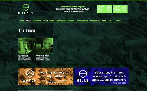 Screenshot of Team Page hillz.org - Hill FM | The Team, volunteers & presenters - captured Oct. 27, 2014