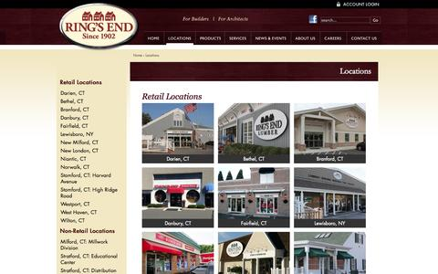 Screenshot of Locations Page ringsend.com - Locations - Ring's End - captured Oct. 9, 2014