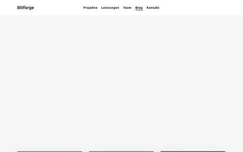 Screenshot of Blog bitforge.ch - Blog – Bitforge – Apps, Augmented- und Virtual Reality - captured Nov. 13, 2018