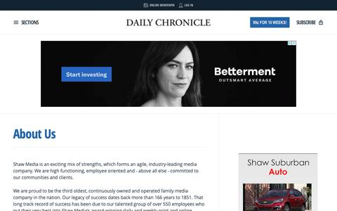 Screenshot of About Page daily-chronicle.com - About Us | Daily Chronicle - captured Oct. 19, 2018