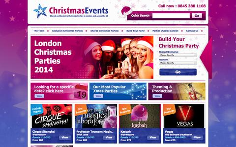 Screenshot of Home Page christmas-events.com - Christmas Parties London : Christmas Party London : Christmas Parties UK : Christmas Parties - captured Jan. 27, 2015