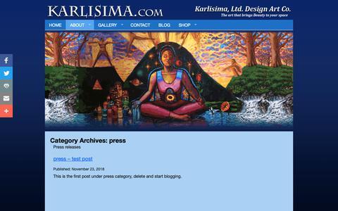 Screenshot of Press Page karlisima.com - press – Karlisima - captured Nov. 29, 2018