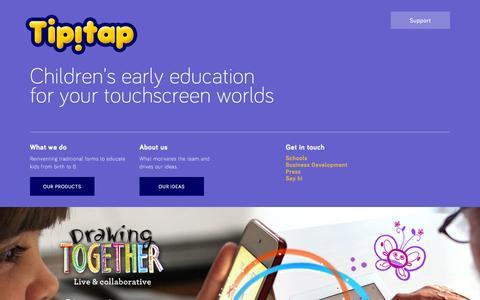 Screenshot of Home Page tipitap.com - Tipitap - captured Feb. 6, 2015