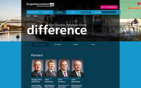 Screenshot of About Page dngc.ie - About us | Douglas Newman Good Commercial Property - captured Oct. 5, 2014