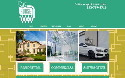Screenshot of Services Page salshouseoftint.com - Sal's House of Tint - San Marcos, TX - captured Sept. 30, 2014