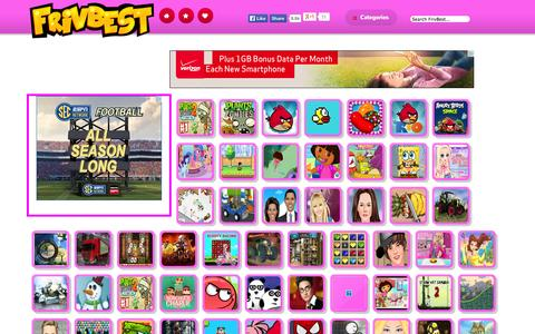 Screenshot of Home Page frivbest.com - Play Friv Games Online | Friv | Juegos | Friv Games - captured Sept. 19, 2014