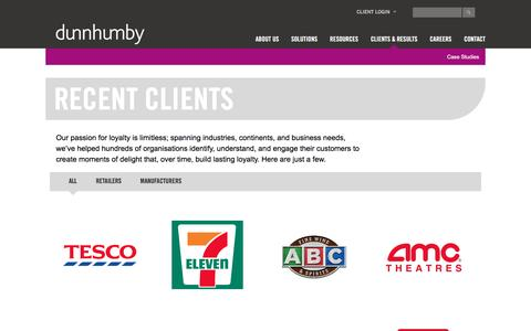 Recent Clients | dunnhumby