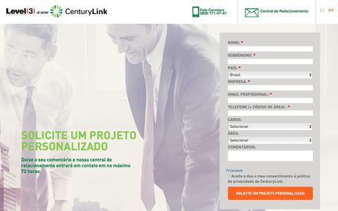Screenshot of Landing Page level3.com - Solicite um Projeto Personalizado - captured March 5, 2018
