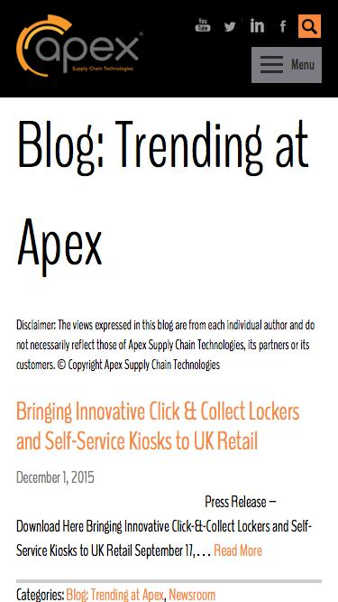 Blog: Trending at Apex Archives - Page 2 of 2 - Apex Supply Chain Solutions