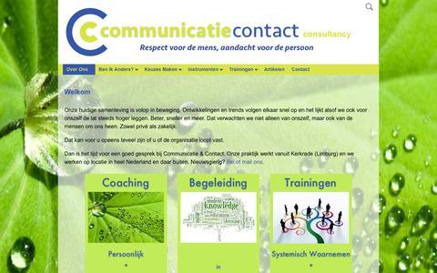 Screenshot of Home Page communicatiecontact.nl - Communicatie & Contact VOF | Respect voor de mens, aandacht voor de persoon - captured Jan. 30, 2016