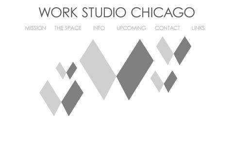 Screenshot of Home Page workstudiochicago.com - Work Studio Chicago - captured Oct. 7, 2014