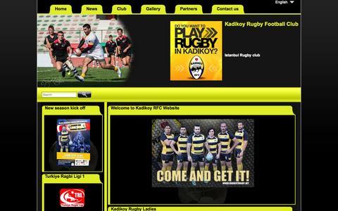 Screenshot of Home Page kadikoyrugby.net - Kadikoy rugby Home - captured June 20, 2015