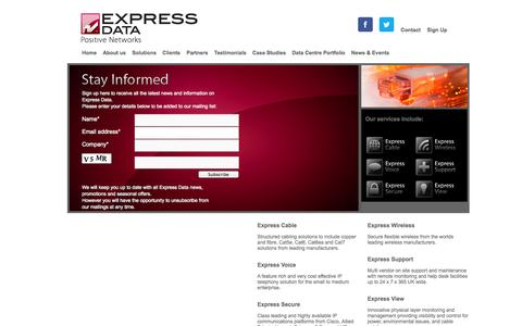 Screenshot of Signup Page expressdata.co.uk - Sign Up - Express Data - Network Cabling Specialists - captured Oct. 3, 2014
