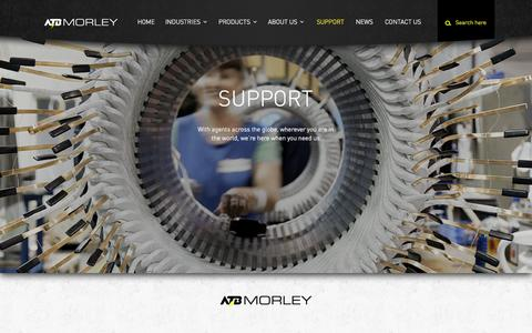 Screenshot of Support Page atbmorley.com - Support - ATB Morley - captured Oct. 8, 2014