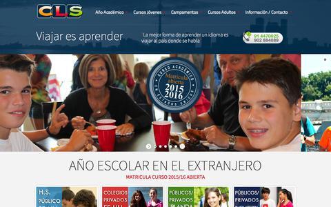 Screenshot of Home Page cls-idiomas.com - Cursos de inglés en el extranjero para jovenes - cursos de inglés en verano - Cursos ingles en el extranjero - captured Oct. 1, 2014