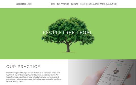 Screenshot of Home Page peopletreelegal.com - PeopleTree Legal - Homepage - captured July 20, 2015