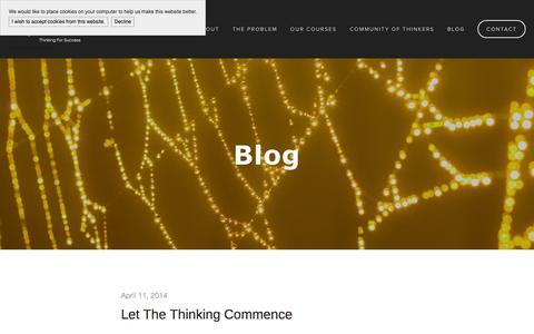 Screenshot of Press Page skills2think.com - Blog — Skills2Think - captured Oct. 26, 2014