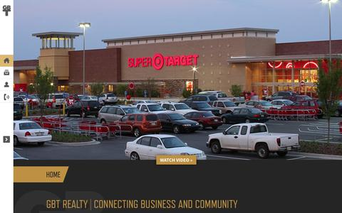 Screenshot of Home Page gbtrealty.com - Home | GBT Realty Corporation - captured Sept. 26, 2014