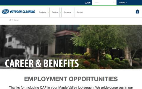 Screenshot of Jobs Page mycaf.com - Career - captured Aug. 5, 2018