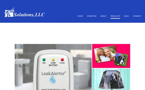 Screenshot of Products Page nth-solutions.com - Products | nth Solutions - captured Oct. 25, 2017