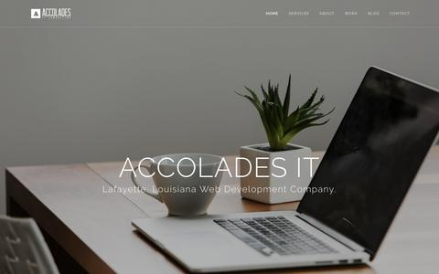 Screenshot of About Page Contact Page Services Page accoladesit.com - Web Design Lafayette LA - captured Oct. 7, 2017