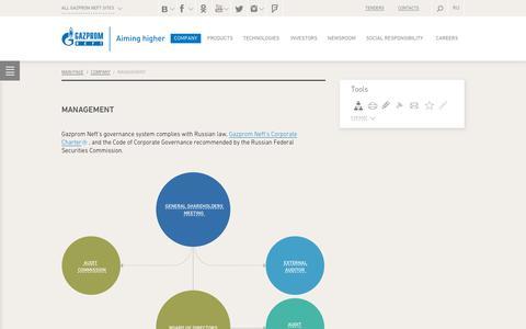 Screenshot of Team Page gazprom-neft.com - Management — Gazprom Neft PJSC - captured Nov. 1, 2018