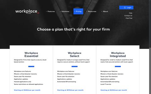 Screenshot of Pricing Page os33.com - Pricing - Wealth Advisor - workplace - captured July 23, 2018