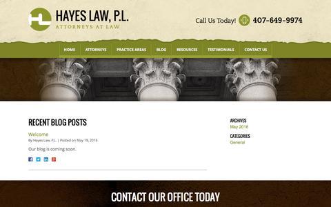 Screenshot of Blog const-law.com - Blog | Hayes Law, P.L. - captured Nov. 1, 2016