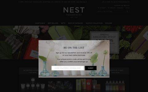 Screenshot of Home Page nestfragrances.com - NEST Fragrances   Home - captured March 10, 2017