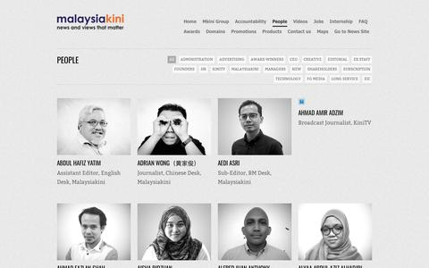 Screenshot of Team Page malaysiakini.com - People   Malaysiakini - captured Sept. 21, 2018
