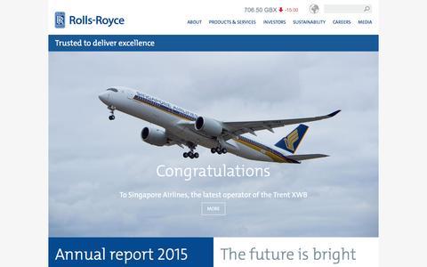 Screenshot of Home Page rolls-royce.com - Rolls-Royce - captured March 9, 2016