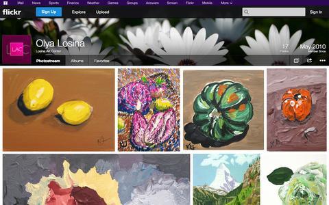 Screenshot of Flickr Page flickr.com - Flickr: Losina Art Center's Photostream - captured Oct. 22, 2014