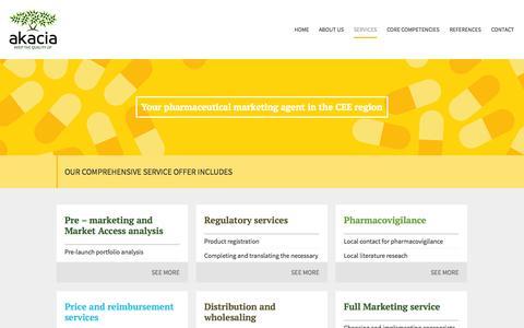 Screenshot of Services Page akacia.eu - Akacia A.G. | Services - captured Oct. 4, 2014