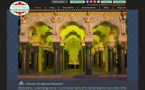 Screenshot of Home Page maljikakamra.com - Malji Ka Kamra - captured Oct. 1, 2014