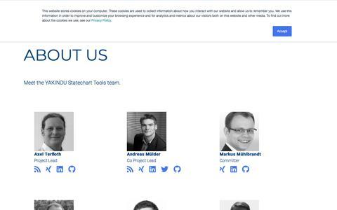 Screenshot of Team Page itemis.com - YAKINDU Statechart Tools Team - captured Sept. 20, 2018