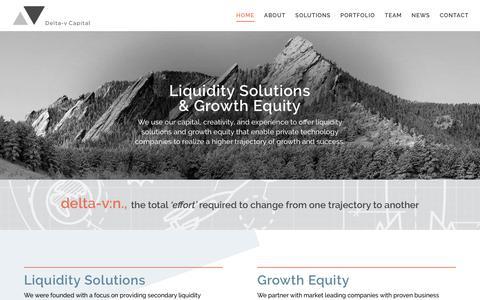 Screenshot of Home Page deltavcapital.com - Home - Delta-v Capital - captured March 16, 2019
