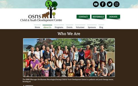 Screenshot of About Page osns.org - OSNS- About Us - captured Nov. 2, 2017