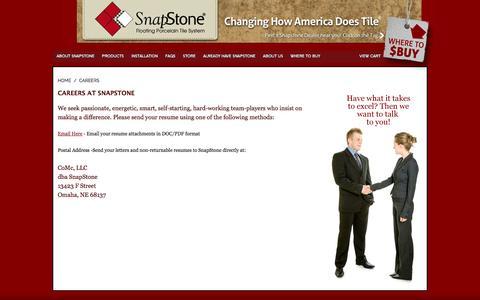 Screenshot of Jobs Page snapstone.com - SnapStone | Careers - captured Nov. 7, 2016