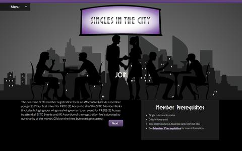 Screenshot of Signup Page singlesinthecityvegas.com - Join - Singles in the City - captured Oct. 1, 2014