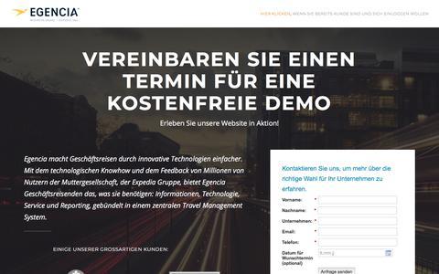 Screenshot of Landing Page egencia.com - Egencia Corporate Travel - Request Live Demo - captured July 26, 2018