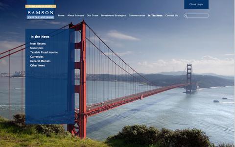 Screenshot of Press Page samsonca.com - Samson Capital Advisors | In The News - captured Oct. 4, 2014